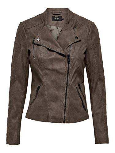 ONLY Damen Jacke Leder-Look 34Falcon