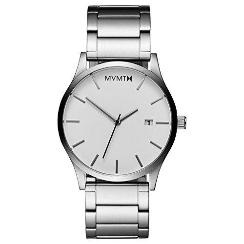 MVMT Herren Analog Quarz Armbanduhr mit Edelstahlarmband