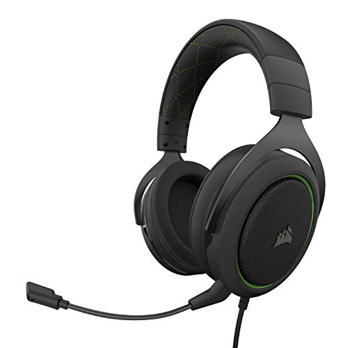 Corsair HS50 Pro Stereo Gaming Headset, Green
