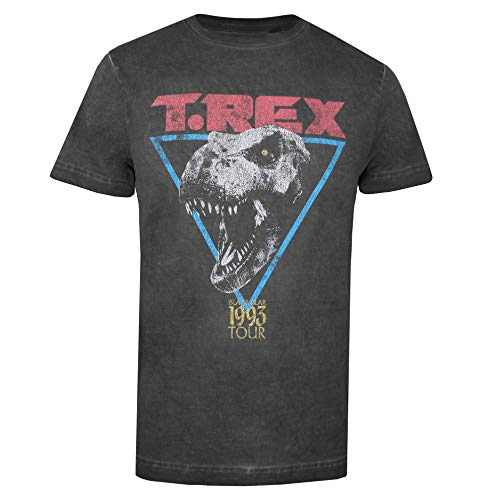 Jurassic Park T-Rex T-Shirt, Nero Vintage, M Uomo