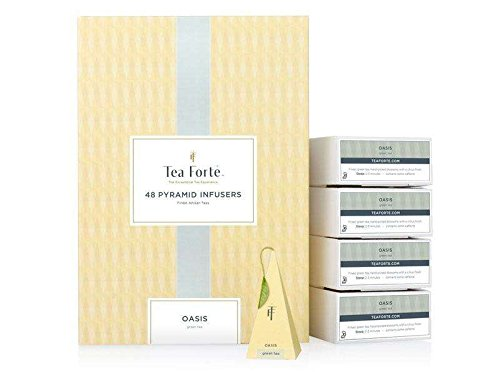 Tea Forte Oasis 48 Tee-Pyramiden Grüner Tee, Oasis Green Tea Event Box Bulk Pack by Tea Forte