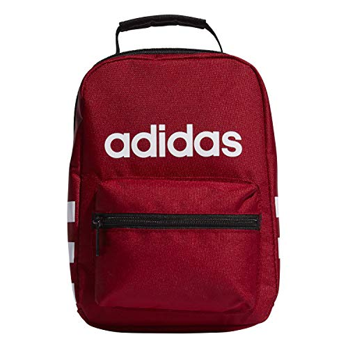 adidas Unisex Santiago Insulated Lunch Bag, Active Maroon/ Black/ White, ONE SIZE