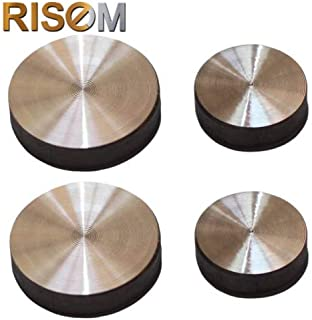 RiseOm Stainless Steel Round Mirror Cap Silver Pack of 16 (25mm Round)
