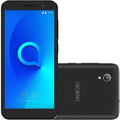 Smartphone Alcatel 1 5033J 8GB Desbloqueado Preto - Android 8.0 Oreo, Tela 5 , Câmera 16MP, Dual Chip