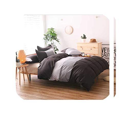 TT Lemon Winter Thicking Sanding Fabric Comfortable Adult Double Bedding Set Duvet Cover Set Pillowcase 2/3Pcs,8,Twin 2Pcs