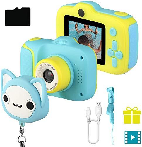 JAMSWALL 1080P HD Bambini Fotocamera Selfie Macchina Fotografica 18MP Videocamera con Scheda 32 GB, Portatile Digital Camera Kids Videocamera Macchina Fotografica Regalo di Compleanno per Bambini