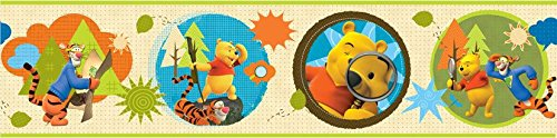 Original Disney Winnie Pooh Puuh & Tiger Borte Bordüre L 5 M x B 15 cm Wanddekoration NEU Selbstklebend