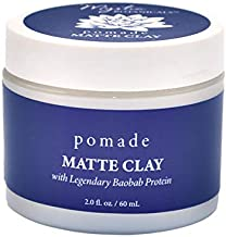 Mystic Botanicals Matte Clay Pomade with mango Butter & Maca | Gives A Matte Finish While Increasing Volume Luminosity & Strength Of Hair | Paraben Free | 2 Fl. Oz