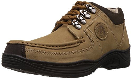 Redchief Men's Camel Leather Trekking and Hiking Footwear Shoes - 9 UK (RC1200 004)