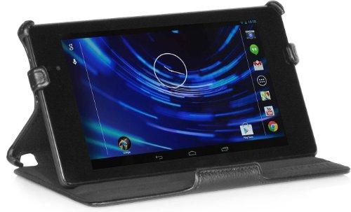 StilGut UltraSlim Hülle, Tasche für Google Nexus 7 HD 2013-2. Generation, Schwarz