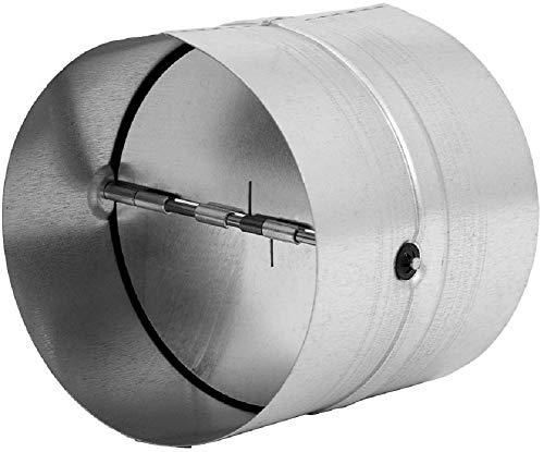 Ø 200mm Rohrverbinder für Lüftungsrohr, Abluftrohr, Abluftkanal - mit Rückschlagklappe - aus verzinktem Stahl