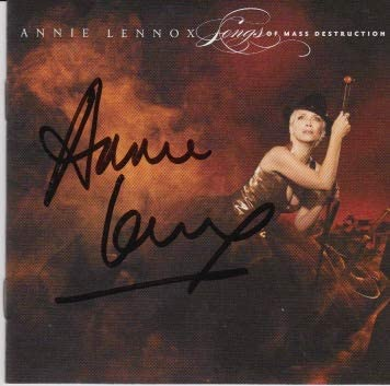 Today's only Annie Lennox low-pricing signed CD
