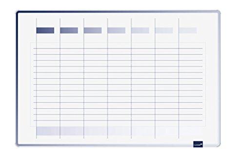 Legamaster 7-490000 Accents Plan-Whiteboard, bedrukt met weekplanner, gelakt stalen oppervlak, 90 x 60 cm
