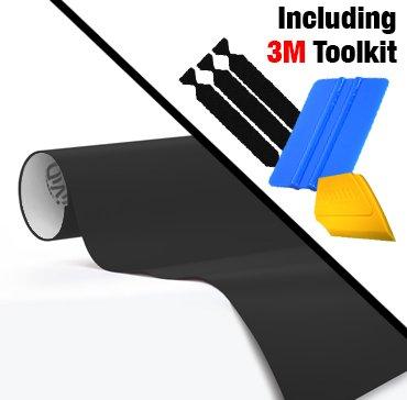 VViViD Black Matte Automotive Vinyl Wrap Film w/ 3M Toolkit (1ft x 5ft)