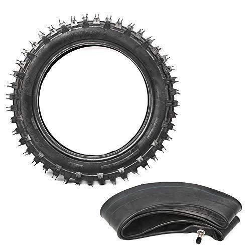 Neumático de motocicleta, 3,00-12 80 / 100-12 Juego de tubo interior de neumático de goma para motocicleta apto para Pit Dirt Bike M TR20
