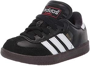 adidas Samba Classic Soccer Shoe, Black/White, 8 M US Little Kid
