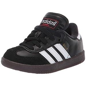 adidas Unisex Samba Classic Leather Soccer Shoe,Black/Running White,6 M US Big Kid