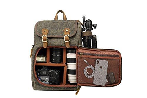 Kamerarucksack, große Kapazität, Reißverschluss vorne, wasserdicht Stoßdämpfung, für SLR-/DSLR-Kameras, professionelle Kameratasche für unterwegs