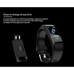 Fitness Tracker, reloj de pulsera de actividad con monitor de presión arterial IP67 resistente al agua con podómetro, contador de calorías y contador de pasos para niños mujeres hombres