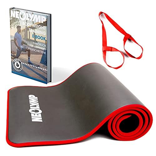 NEOLYMP tapis sport | tapis fitness | tapis de sport pour les professionnels + E-Book avec exercices | tapis de gym | tapis de gymnastique (183x61cm)