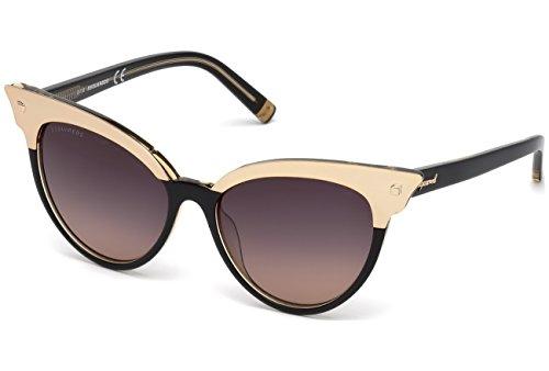 DSQUARED2 DQ0242 05B 55 Monturas de gafas, Negro (Negro/), 55.0 Unisex Adulto