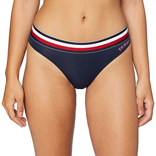 Tommy Hilfiger Damen Bikini Unterkleid, Blau (Navy Blazer), M