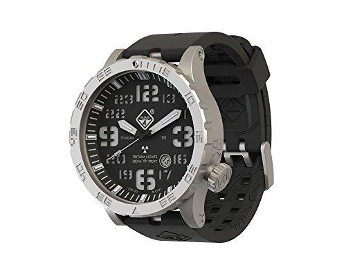 """Hazard 4 Heavy Water Diver(TM) BlackTie: Titanium Tritium Dive-Watch -""""B"""""""