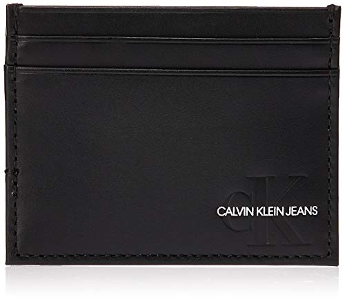 Calvin Klein Monogram Cardholder - Portafogli Uomo, Nero (Black), 1x1x1 cm (W x H L)
