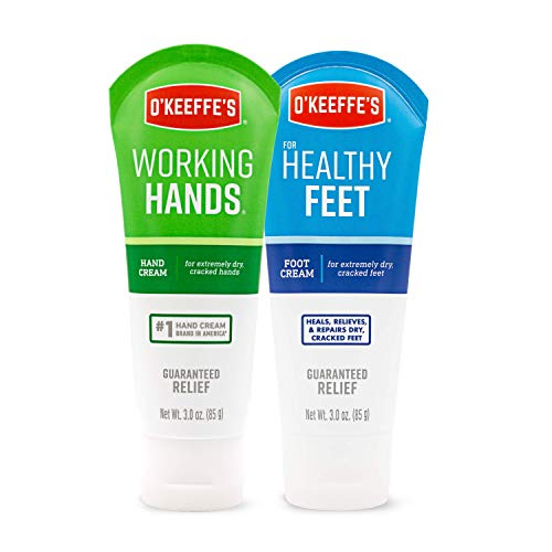 Working Hands (Hand Cream) - Healthy Feet (Foot Cream), 3oz Tubes - Combo Pack by O'Keeffe's