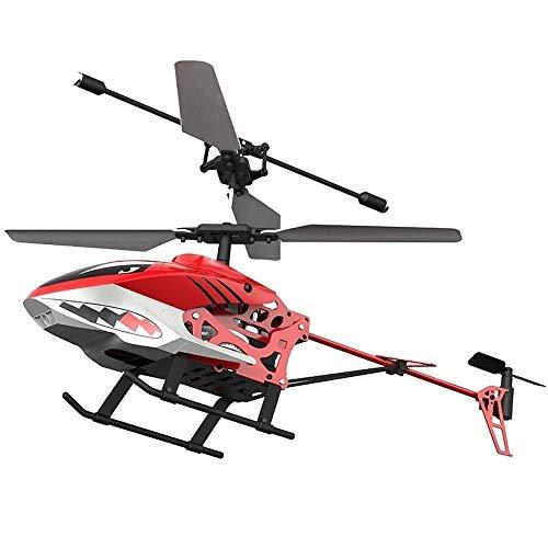 Mini Anti-Collision Airplane E Elicottero giocattolo Radio Telecomando Gyro integrato Gyro Innovaglio Induzione infrarossi Giocattoli educativi interattivi per bambini, ragazzi, ragazze, rosso 20 feng