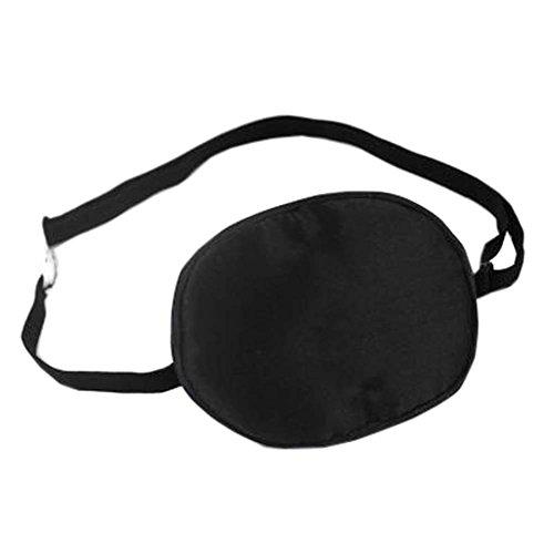 Patch d'oeil de sommeil de soie d'enfants pour le traitement d'Amblyopia d'oeil paresseux, Noir