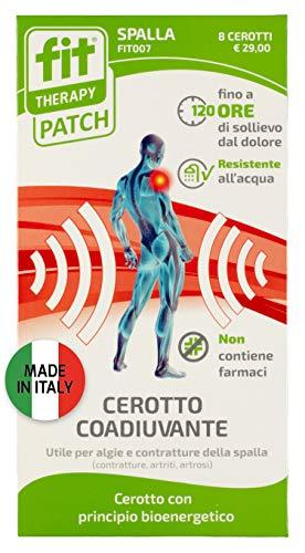 Fit Therapy Patch | Dispositivo medico. Cerotto spalla | Allevia il dolore alla spalla in caso di contratture, artriti, artrosi | 8 cerotti