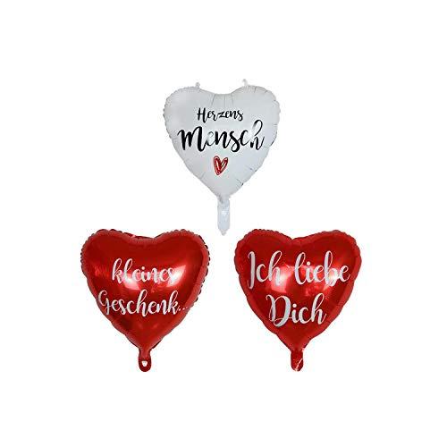 Green HX Gold Party Dekorationen |10pcs 18inch Red Heart Deutsch Ich Liebe Dich Druck Folien Luftballons Hochzeit Valentinstag Geburtstagsfeier Luftballons Brautduschenzubehör-Mintgrün-