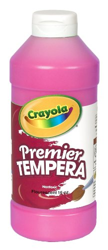Crayola Fluorescent Paint 16-Ounce Plastic Squeeze Bottle, Shocking Pink