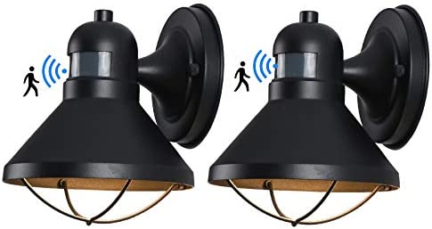 Motion Sensor LED Outdoor Wall Sconce Lighting Dusk to Dawn Photocell Exterior Porch Light Fixtures product image