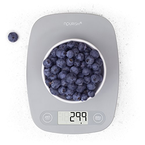 GreaterGoods Digital Kitchen Scale Food Scale, Ultra Slim Food Scales With Multifunction, Easy To Clean Kitchen Scales, And Large Digital Display