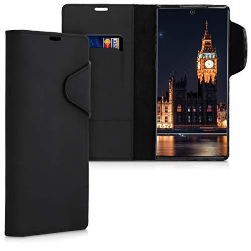 kalibri Wallet Hülle kompatibel mit Samsung Galaxy Note 10 Plus - Hülle Leder - Handy Cover Handyhülle in Schwarz