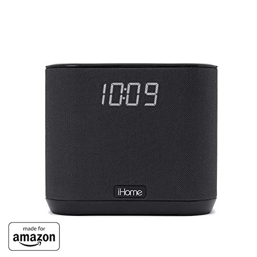 """Price comparison product image """"Made for Amazon"""" All-NEW iHome iAV2v2 Docking Bedside and Home Clock Speaker System for Amazon Echo Input and Echo Dot (2nd Generation)"""