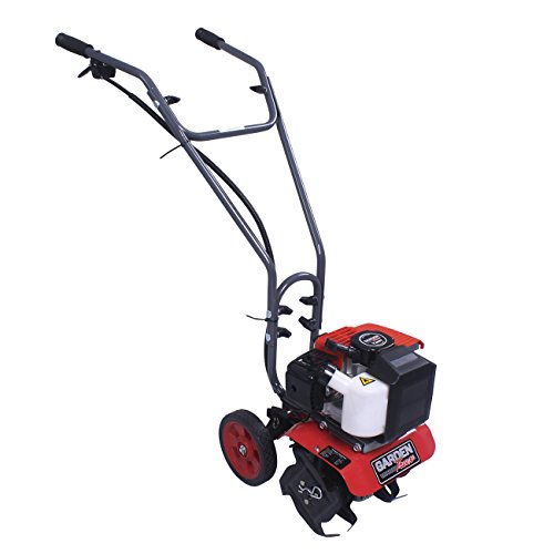 GardenTrax Mini Cultivator Tiller w/2-Cycle Powerful 43cc Red