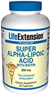 Life Extension Alpha Lipoic with Biotin, 60 ct (Pack of 2)