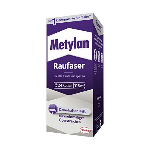 Metylan Raufaser, starker Tapetenkleister für Raufasertapete mit hoher Anfangsklebkraft, langlebiger & korrigierbarer Kleister mit Methylcellulose, 1x720g