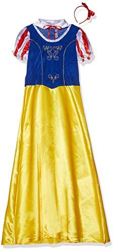 Smiffys-24643L Disfraz de Princesa de Las Nieves, Amarillo, con Vestido, Cuello y Diadema, Color, L-EU Tamaño 44-46 (Smiffy