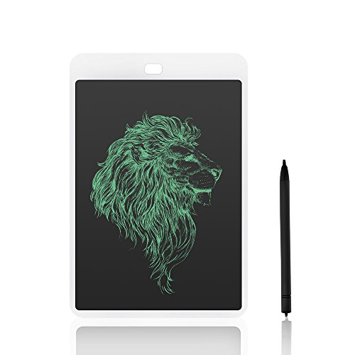 AOGVNA 10 inch LCD Writing Tablet Drawing and Writing Board - Best Paperless Digital Write Drawing Tool Easy Magic Eraser Useful at The Office Great Gift for Kids or Adults (White)