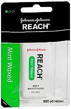 Reach Dental Floss, Waxed, Mint, 200 Yard (Pack of 5)