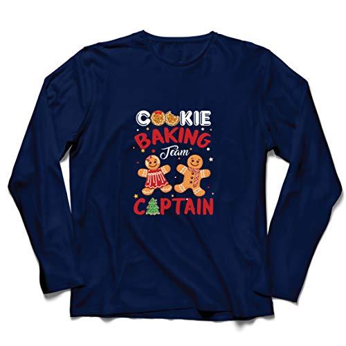 lepni.me Herren T Shirts Weihnachten Cookie Backteam Familienurlaub Kapitän (Small Blau Mehrfarben)