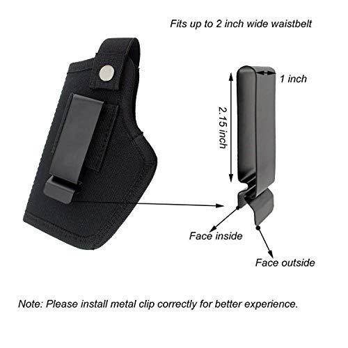 La Gracery Universal Gun Holster for IWB OWB Right Left Hand Inside Concealed Carry Fits All Similar Handguns S&W M&P Shield Glock