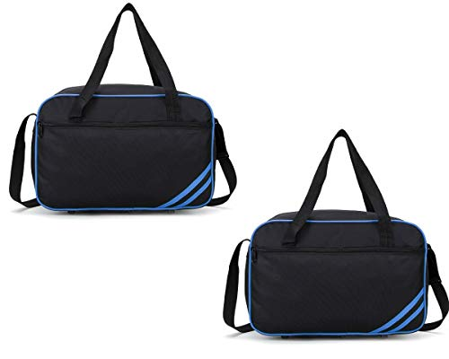 40x20x25 New and Improved 2019 Ryanair Maximum Sized Under Seat Cabin Holdall Black Blue Pack of 2