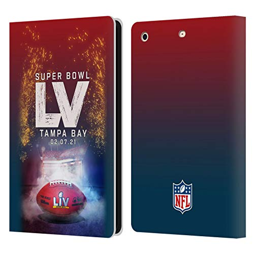 Official NFL Tampa Bay Stadium 2021 Super Bowl LV Leather Book Wallet Case Cover Compatible For Apple iPad mini 1 / mini 2 / mini 3