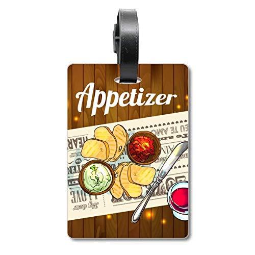 Etikett für Appetizer, Brot, Weinkreuzfahrten, Gepäckanhänger