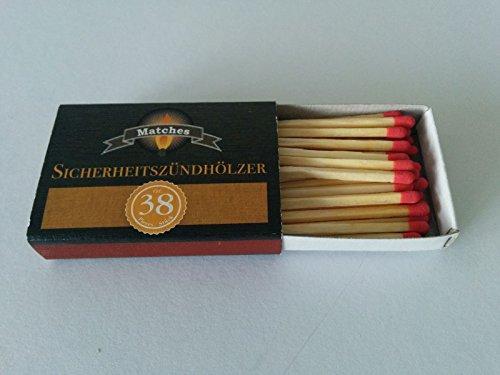 Unilite® Streichhölzer 380 Holz Zündhölzer 10 Schachteln (1 Pack)